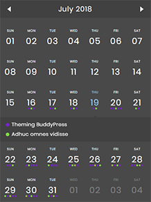 event calendar mobile